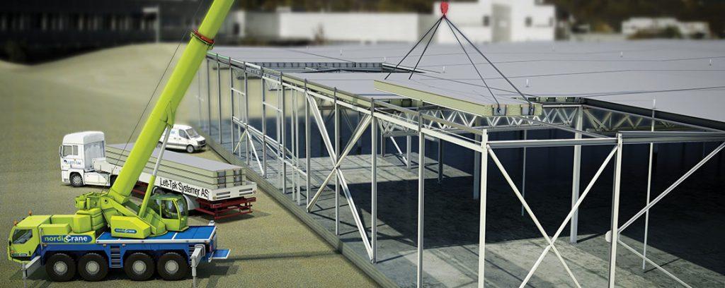 Takelementer med 18 meter spenn : Lett-Tak Systemer
