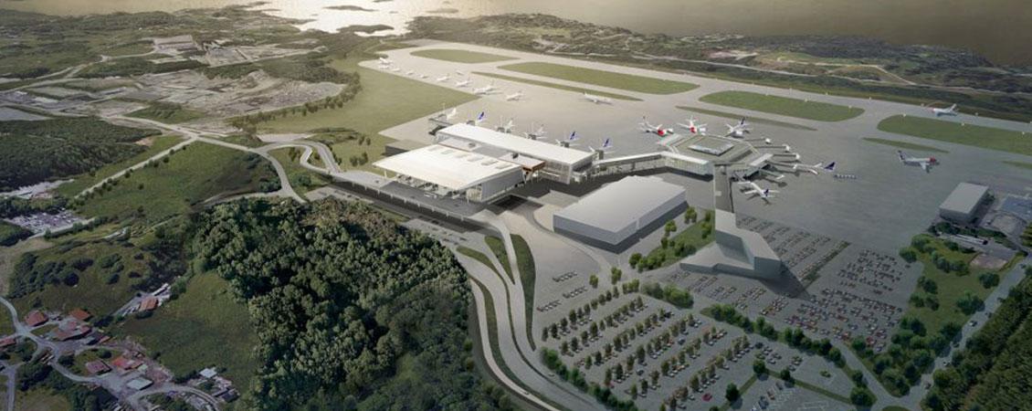 Lett-tak takelement på flygplatser, Bergen Flesland Flygplats : Lett-Tak