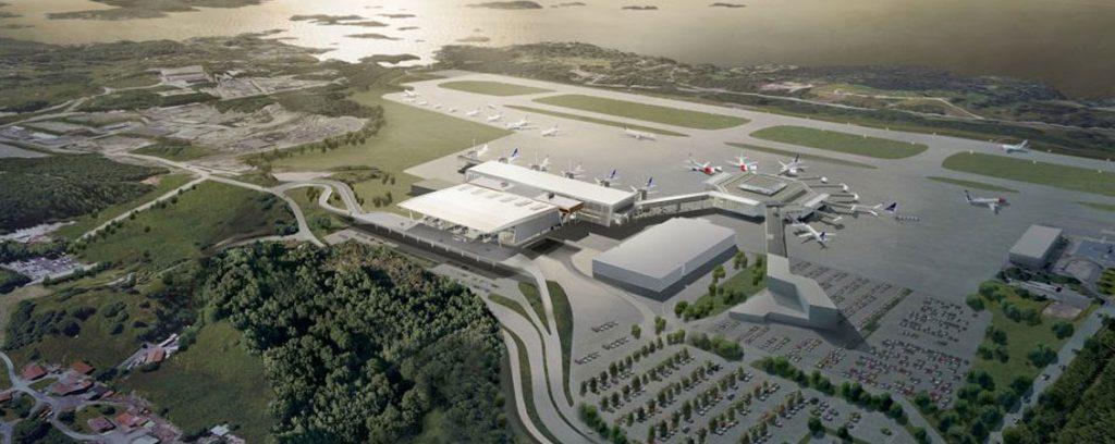 17.000m2 terminaltak Flesland Bergen » Lett-Tak Systemer