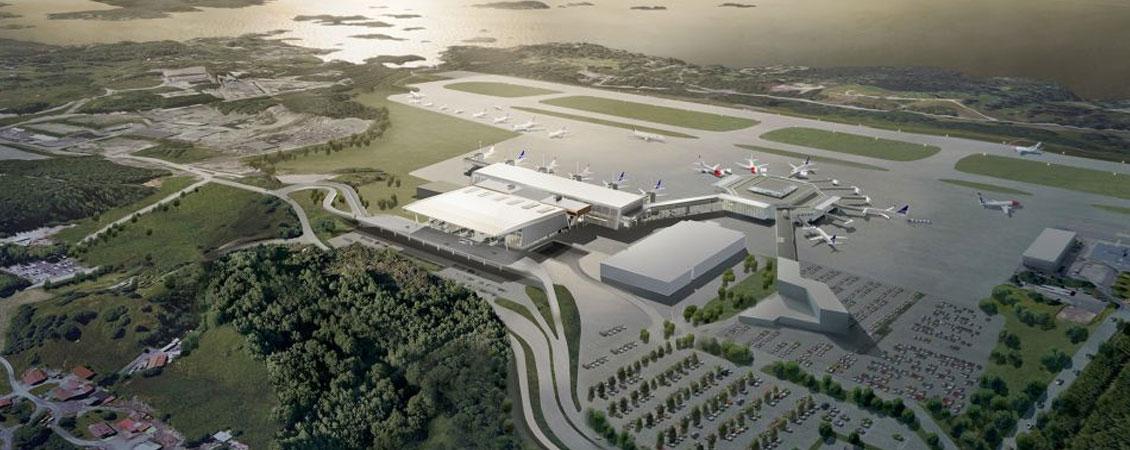 Nye Flesland Bergen flyplass : Lett-Tak Systemer