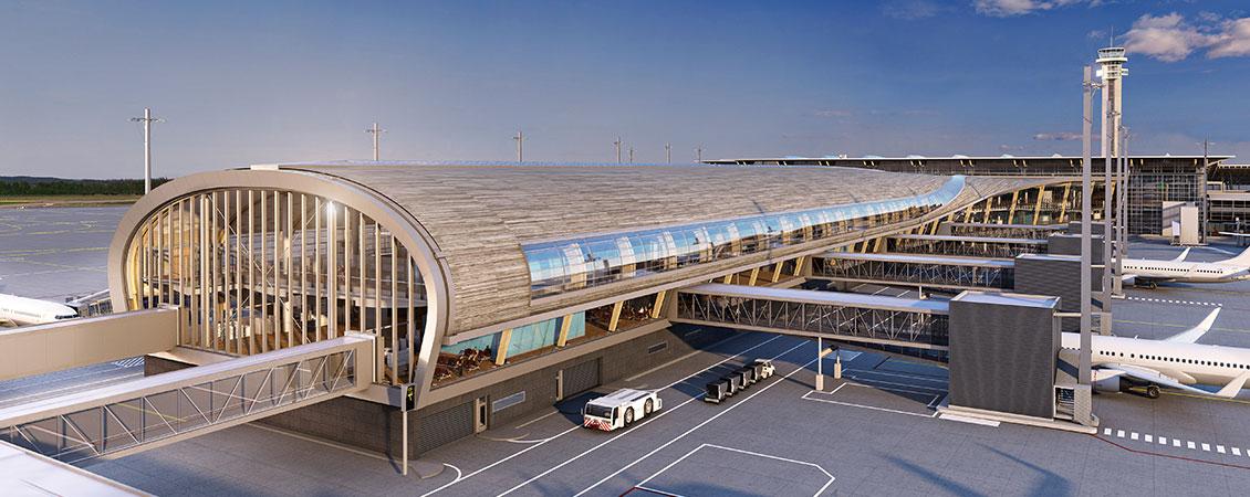 Pir Nord Oslo Lufthavn Gardermoen : Lett-Tak